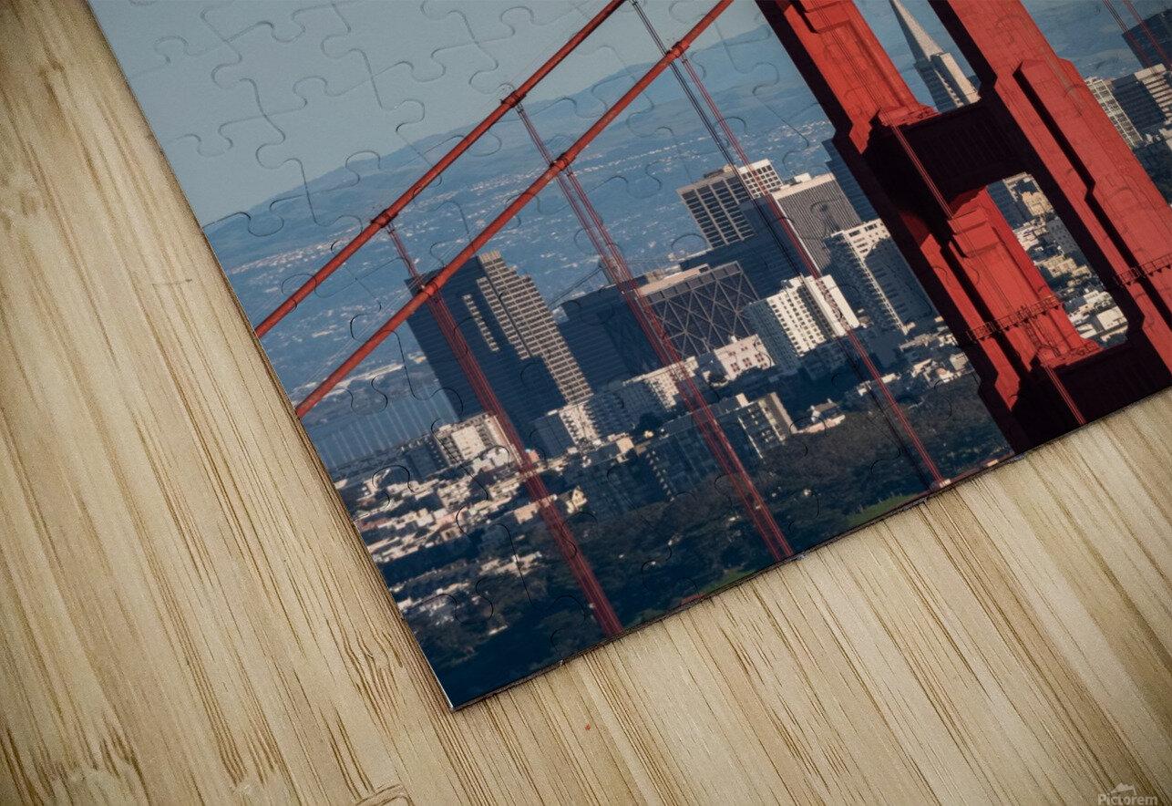 Threading the Needle - Golden Gate Bridge HD Sublimation Metal print