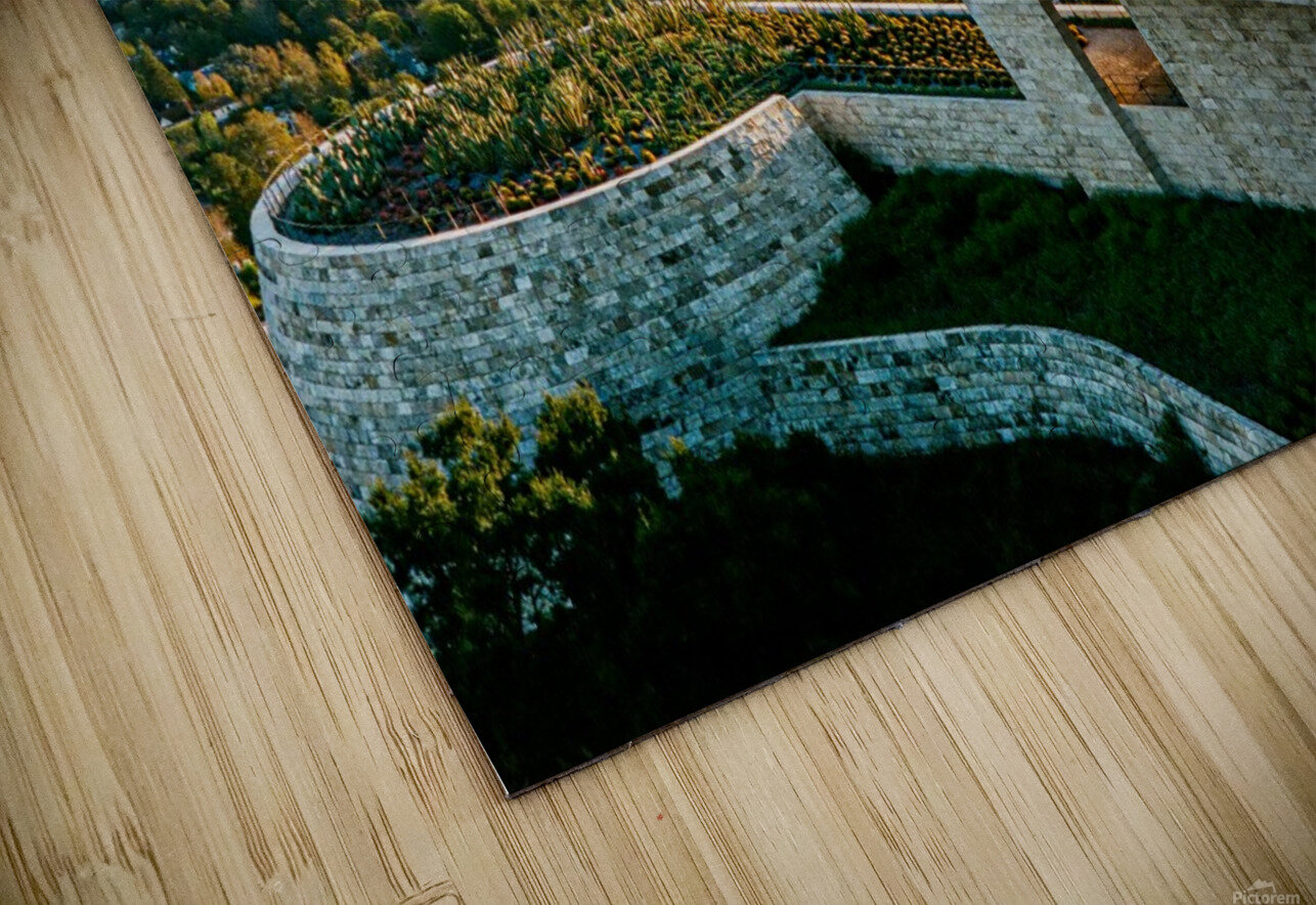 Sunset At The Getty HD Sublimation Metal print