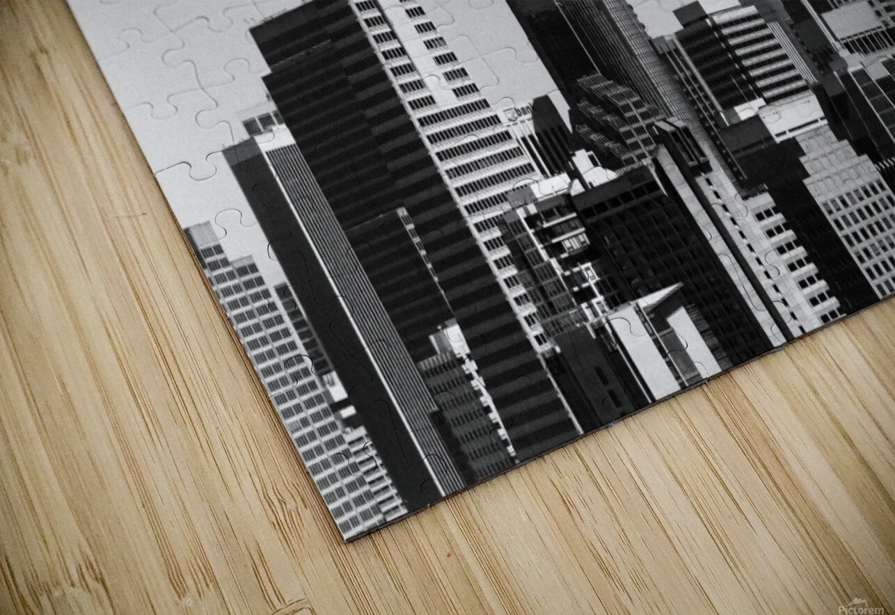 Black and White San Francisco Skyline HD Sublimation Metal print
