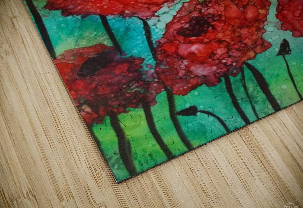 Thinking of Poppies HD Sublimation Metal print