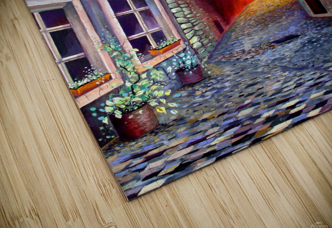 Brussels Cityscape Bohemian Painting HD Sublimation Metal print