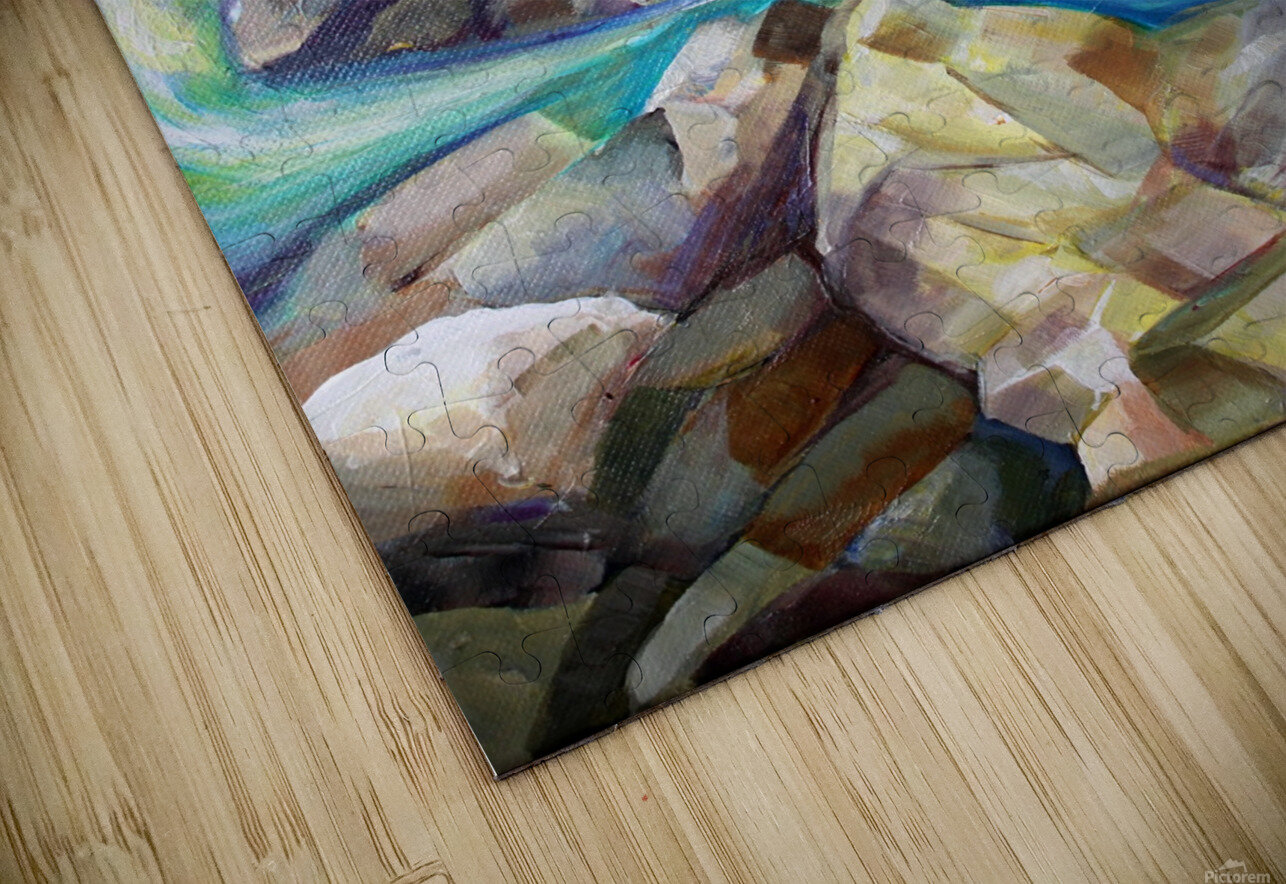Rocky Mountains Crystel River Colorado HD Sublimation Metal print
