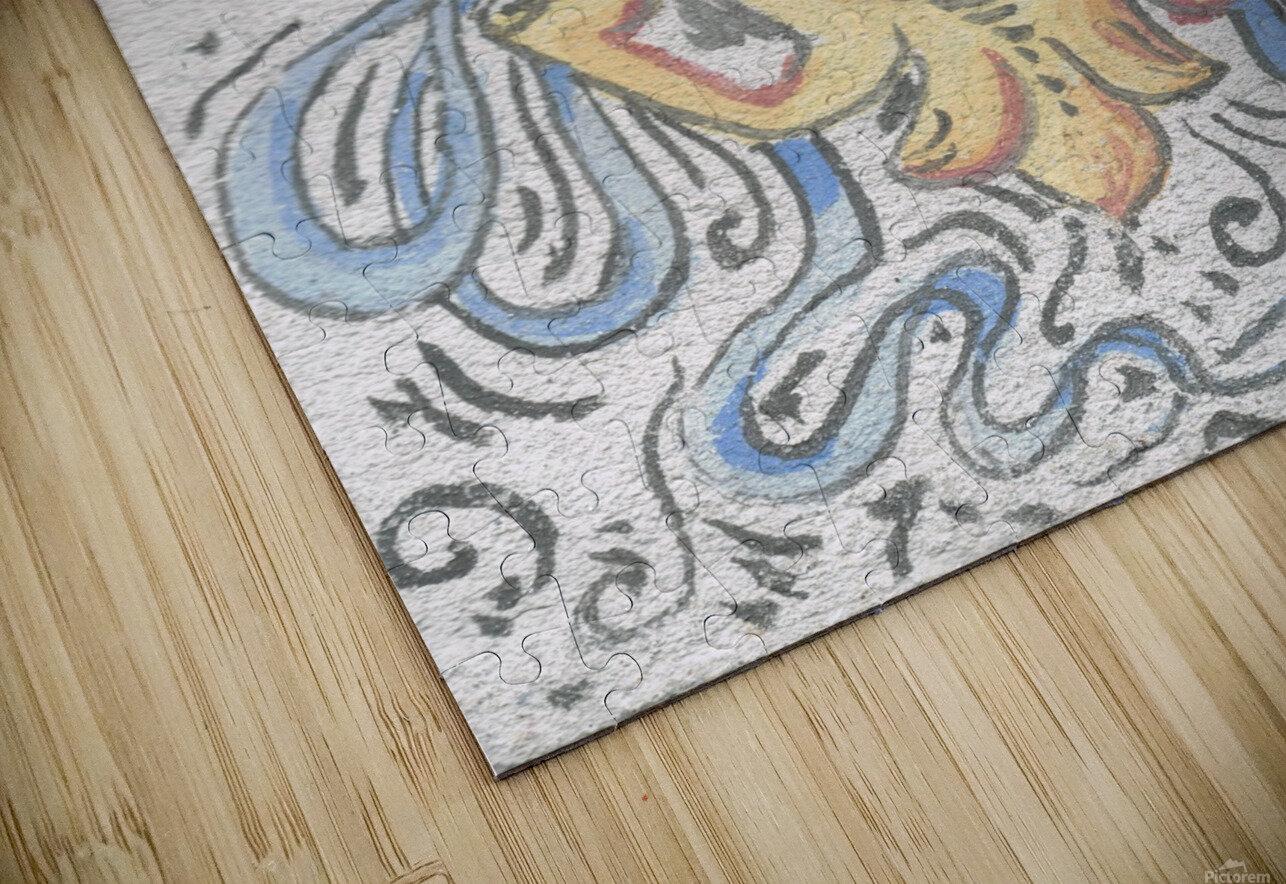 Florentia_ Crest - fresco HD Sublimation Metal print