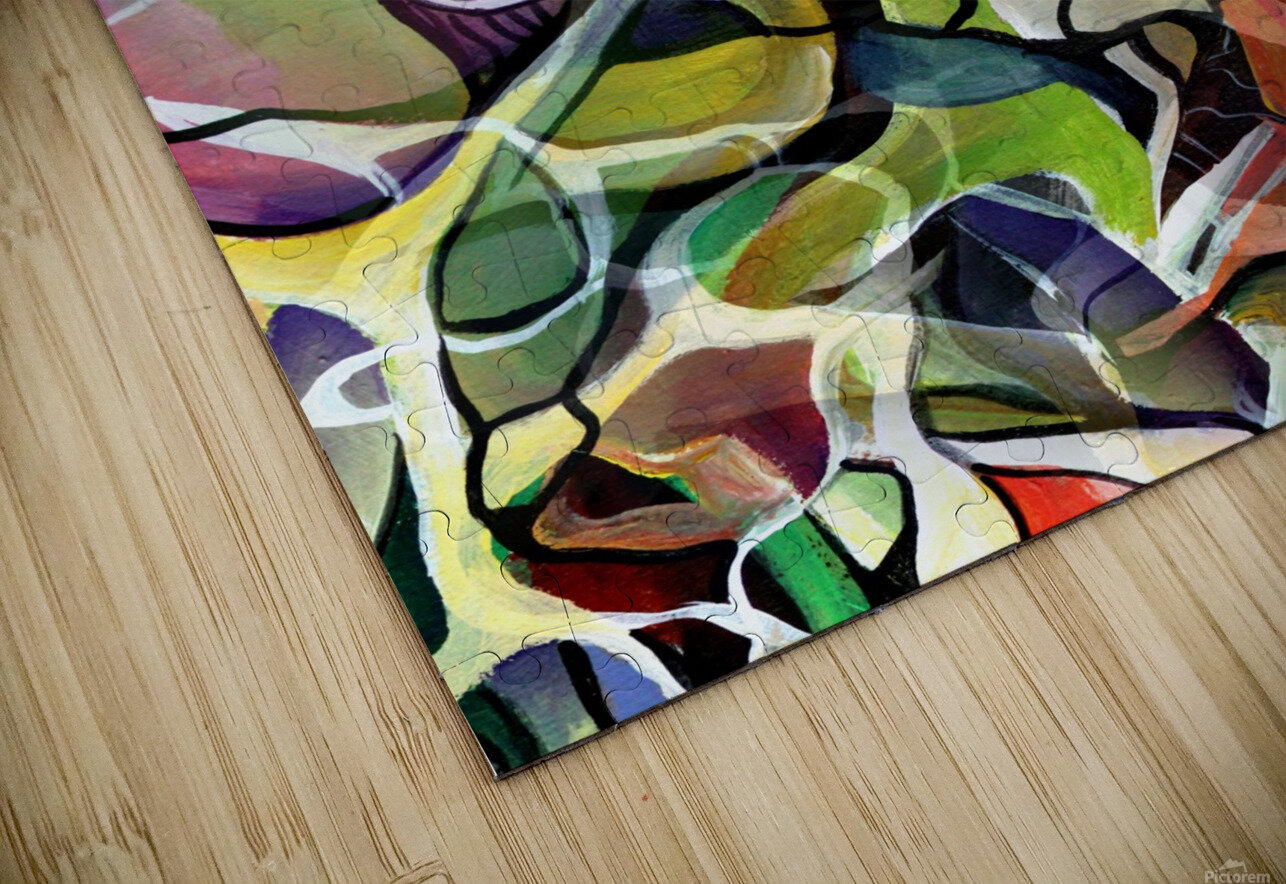 Linear Interlacing Expressionism Abstract HD Sublimation Metal print