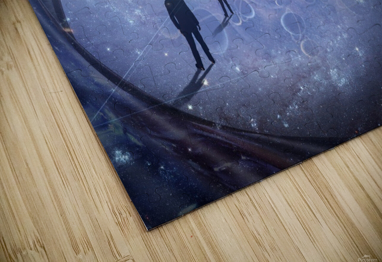 Man in Universe HD Sublimation Metal print