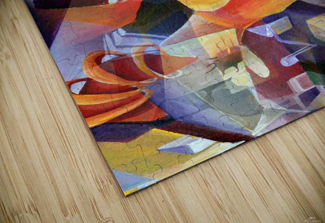Oscillating  Magical Vivid Thoughts HD Sublimation Metal print