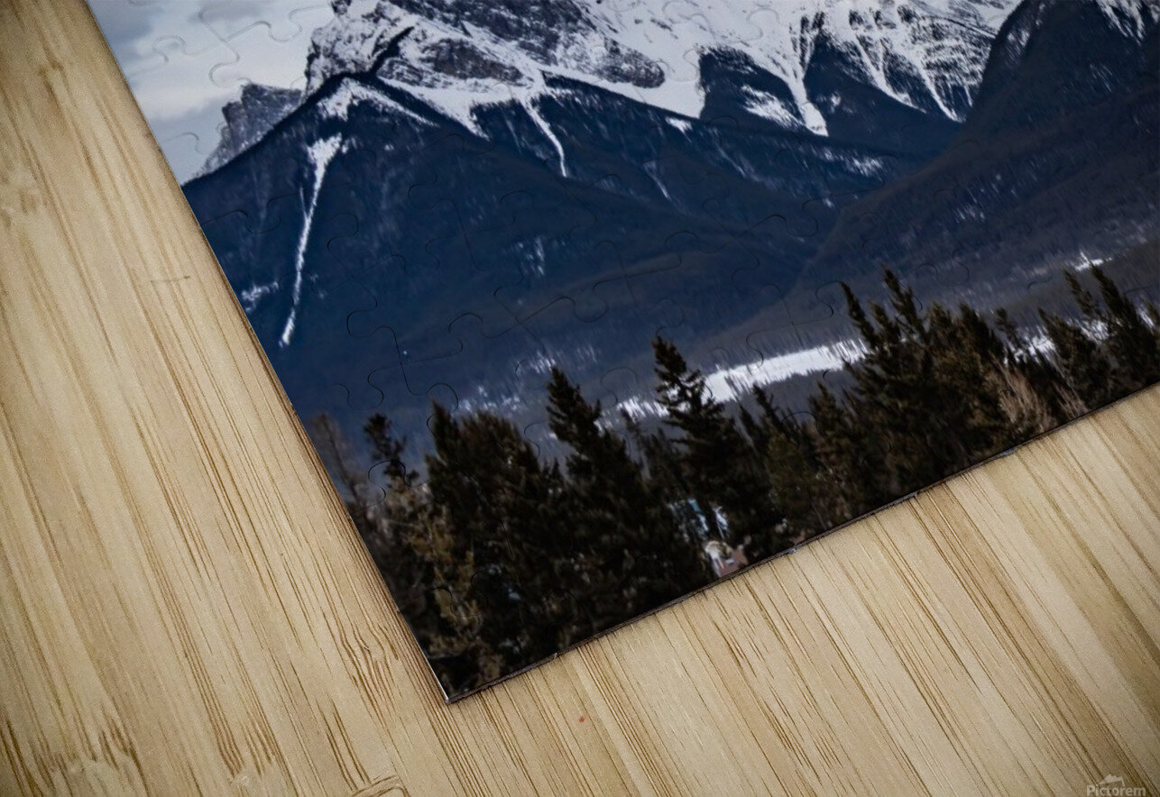 Three Sisters Mountain HD Sublimation Metal print