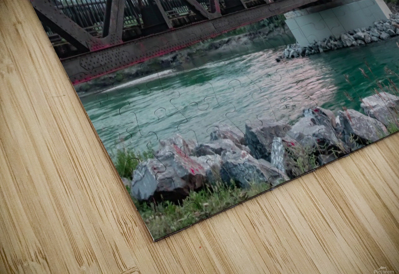 The Engine Bridge Canmore  HD Sublimation Metal print
