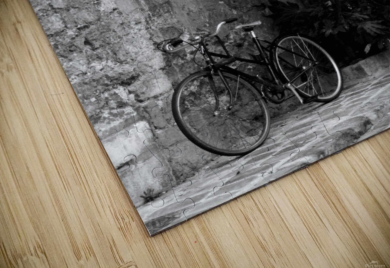 Bike in Passage HD Sublimation Metal print