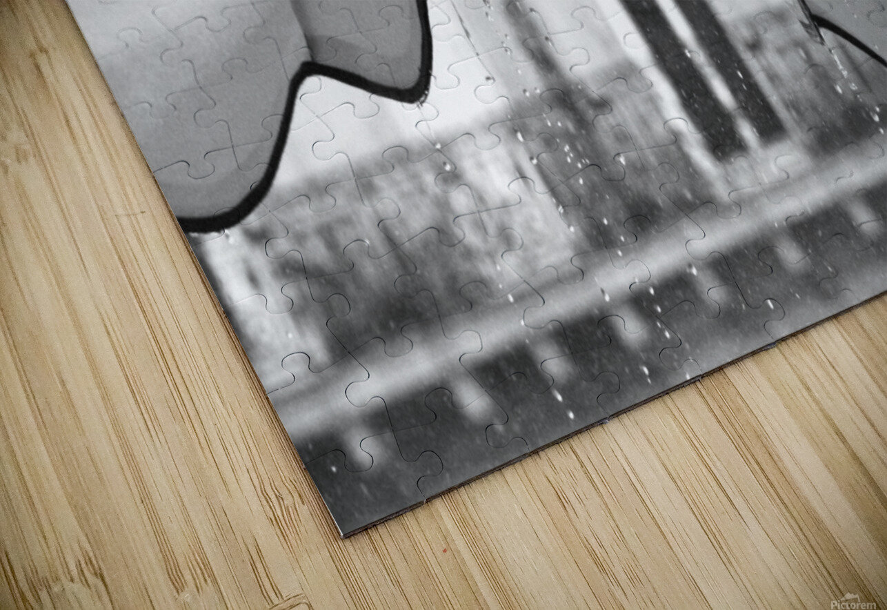 Refuge from the Rain HD Sublimation Metal print
