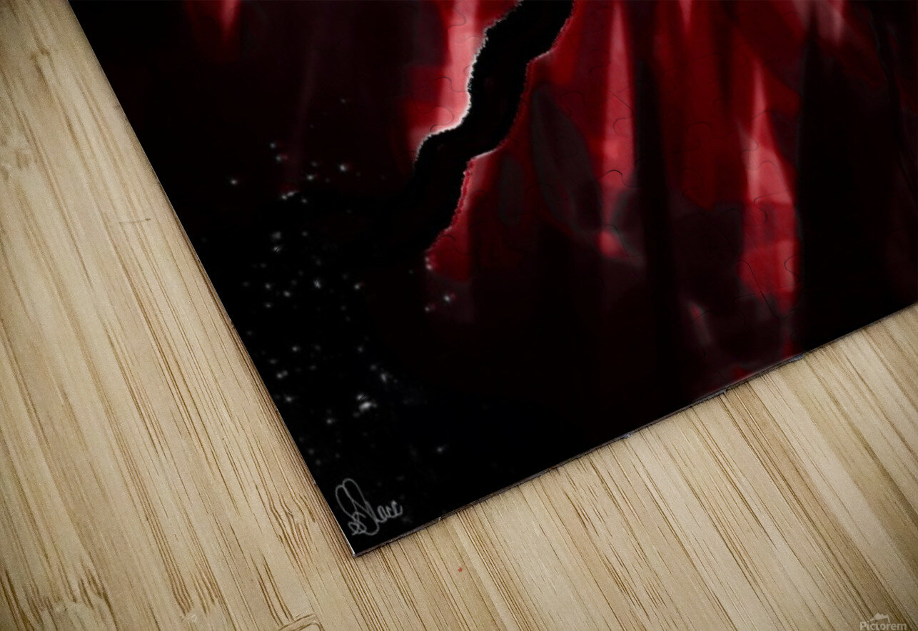 Discovering in Crimson HD Sublimation Metal print