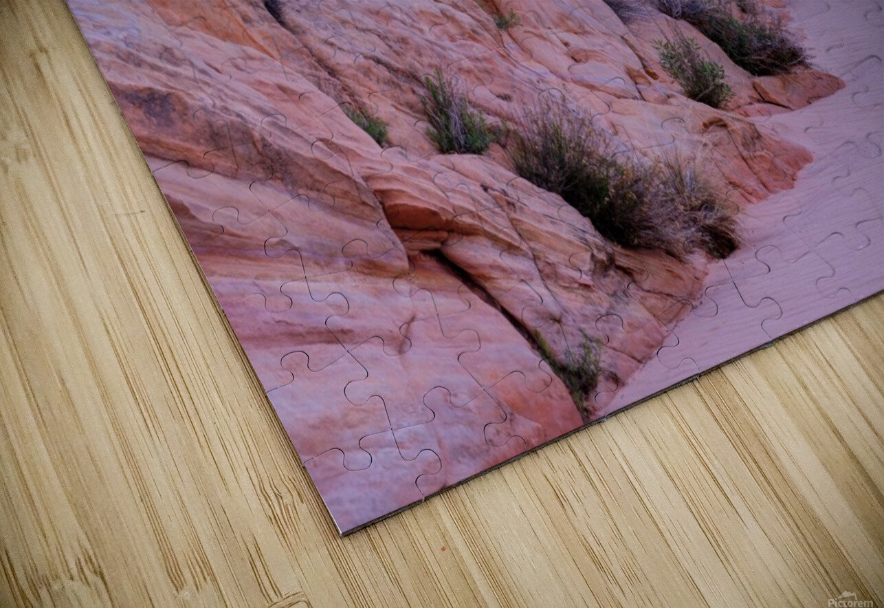 Sunrise over Valley of Fire Wash - Nevada HD Sublimation Metal print