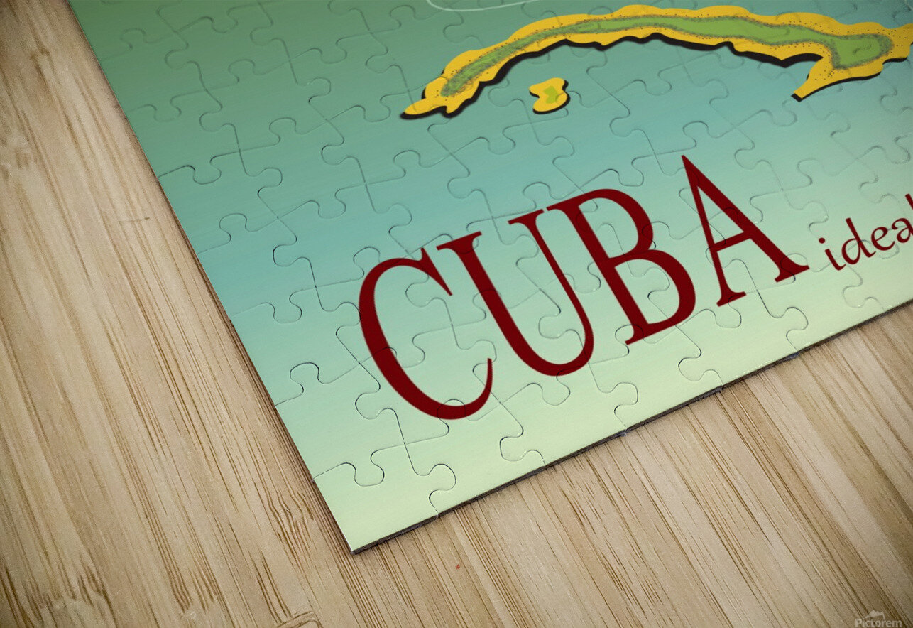 Big Girl over Cuba HD Sublimation Metal print
