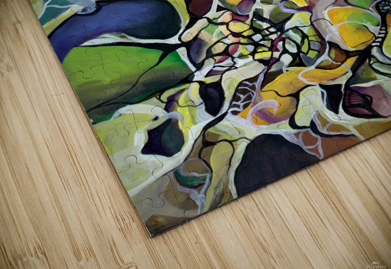Chaos Theory in Interlacing Style  HD Sublimation Metal print
