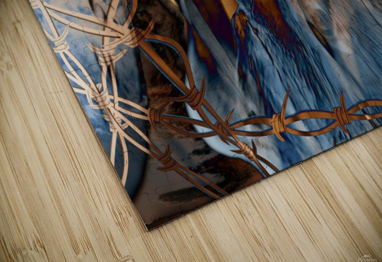 Western Grunge HD Sublimation Metal print