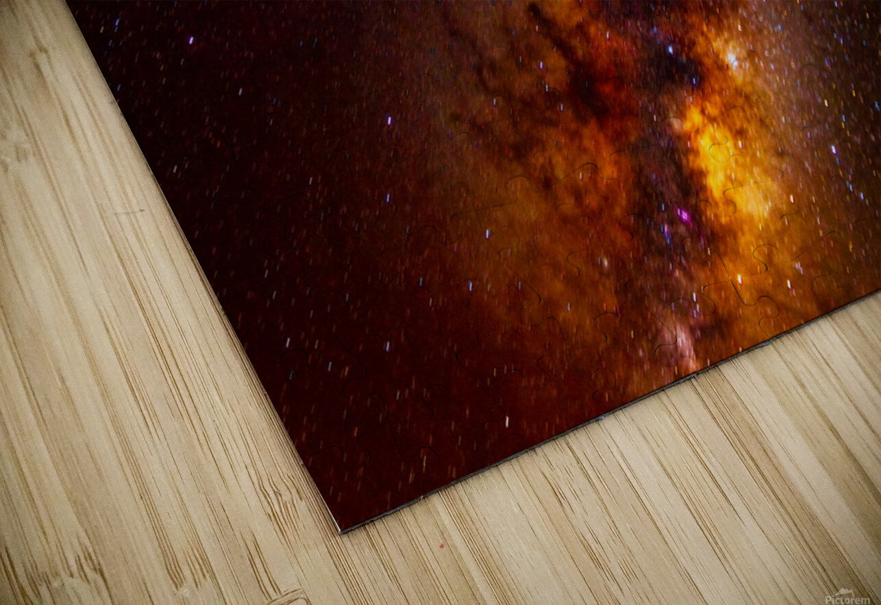 Galactic Core Explosion HD Sublimation Metal print