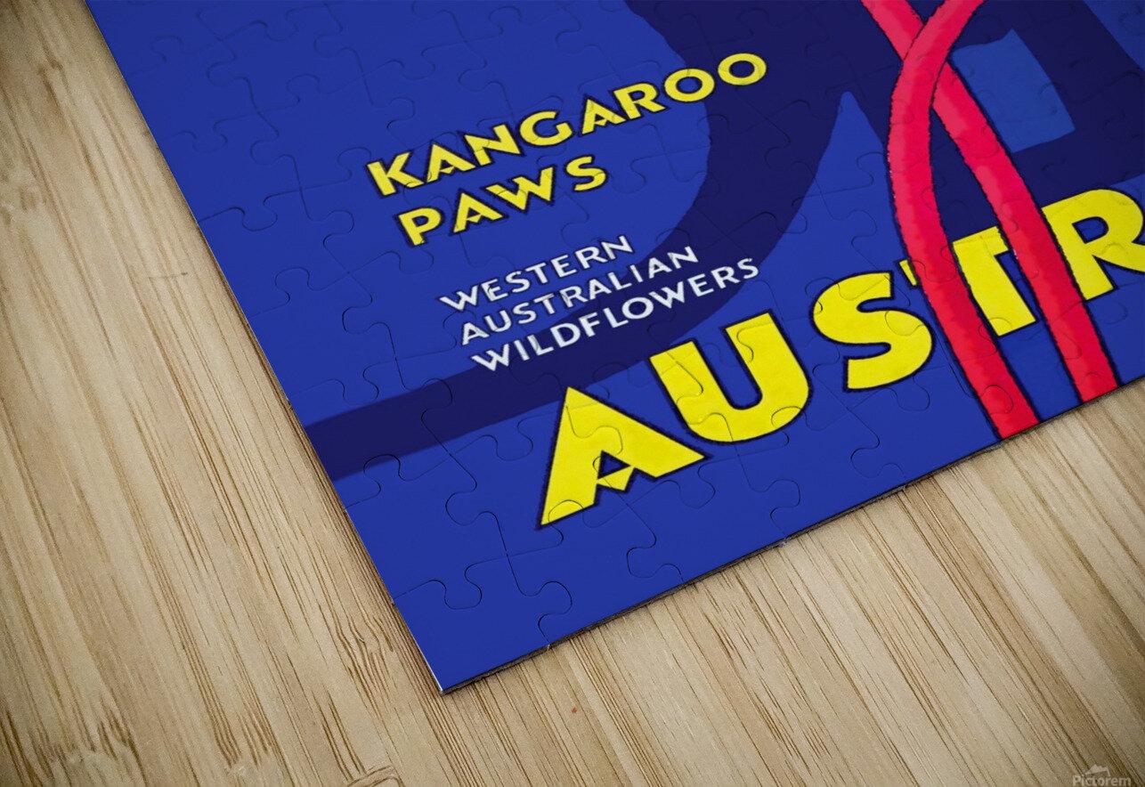 Kangaroo Paws Australia HD Sublimation Metal print