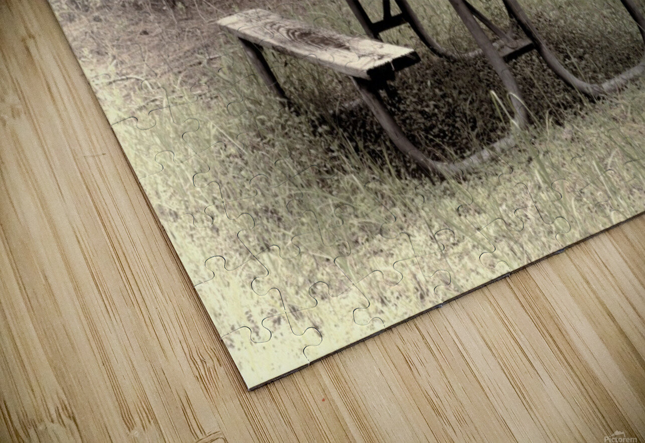 A_Lonely_Table HD Sublimation Metal print