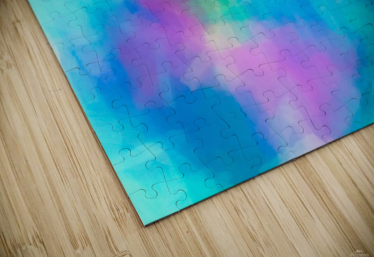 splash painting texture abstract background in blue and pink HD Sublimation Metal print