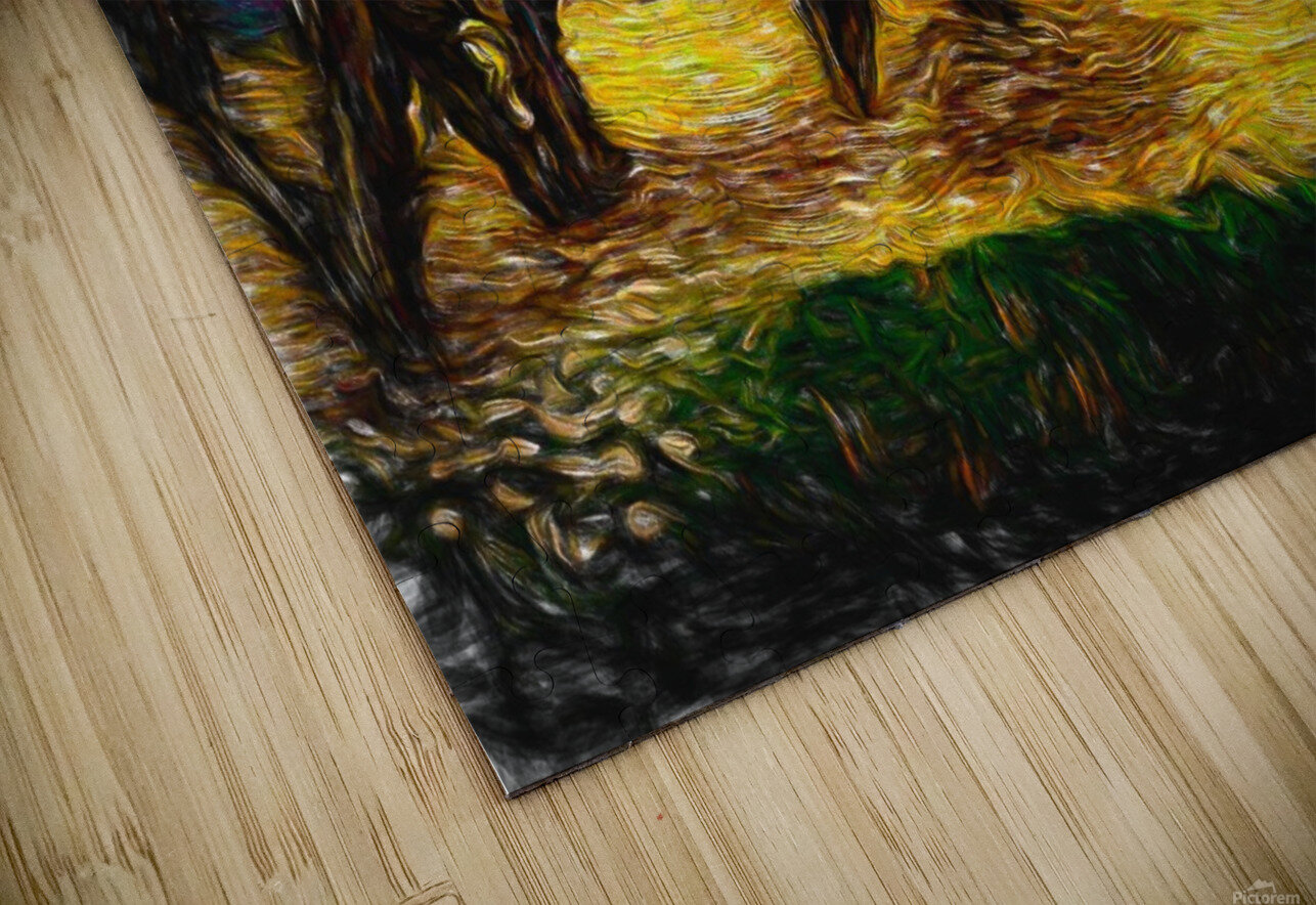 Yellow Summer Fields HD Sublimation Metal print