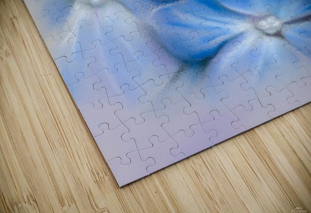 Blue Hydrangea Blossoms HD Sublimation Metal print
