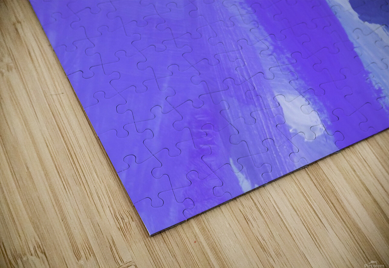 splash painting texture abstract background in blue and purple HD Sublimation Metal print