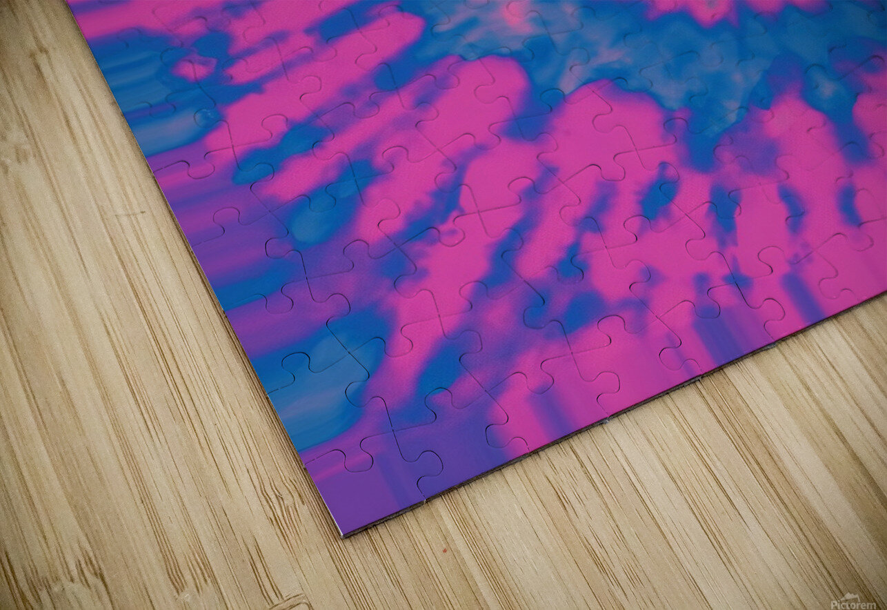 Tie Dyed HD Sublimation Metal print