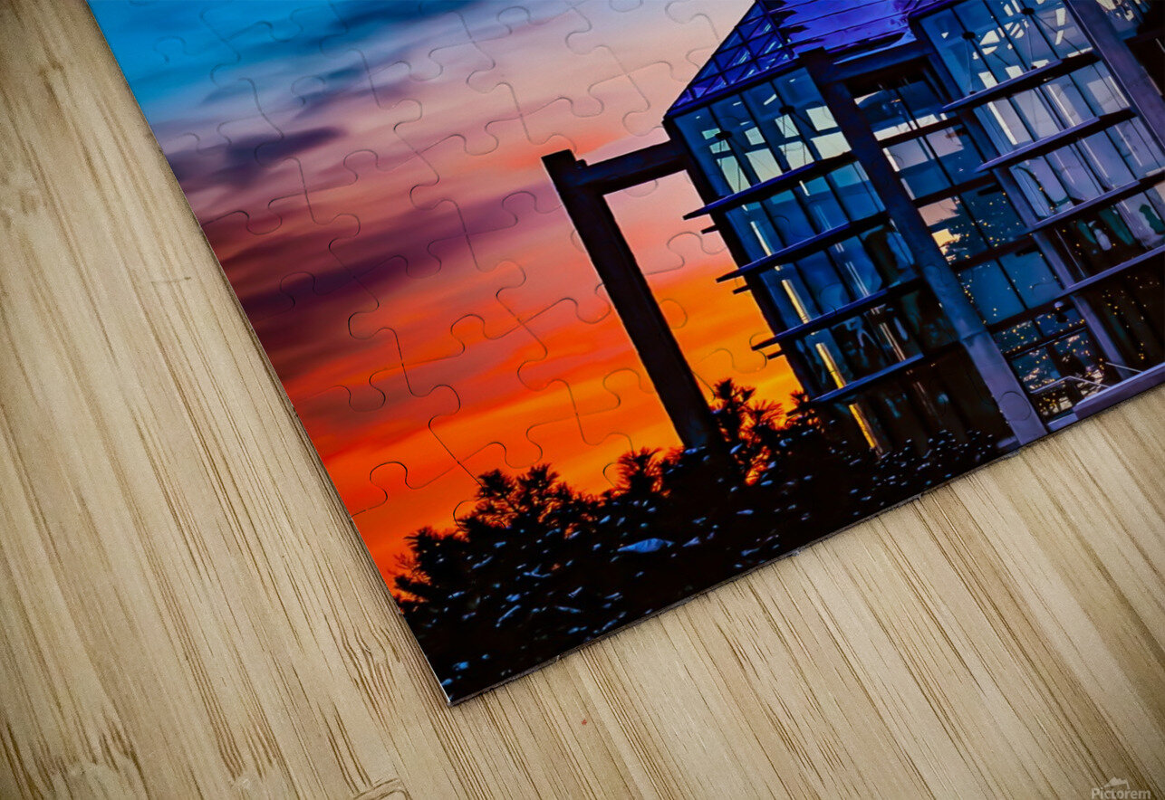 Sunset at the National Gallery of Canada HD Sublimation Metal print