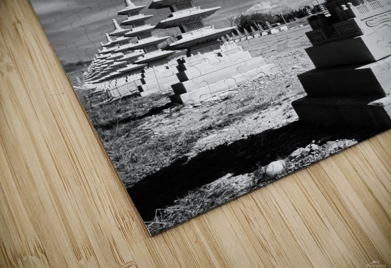 Vanishing Towers of Wutai Shan HD Sublimation Metal print