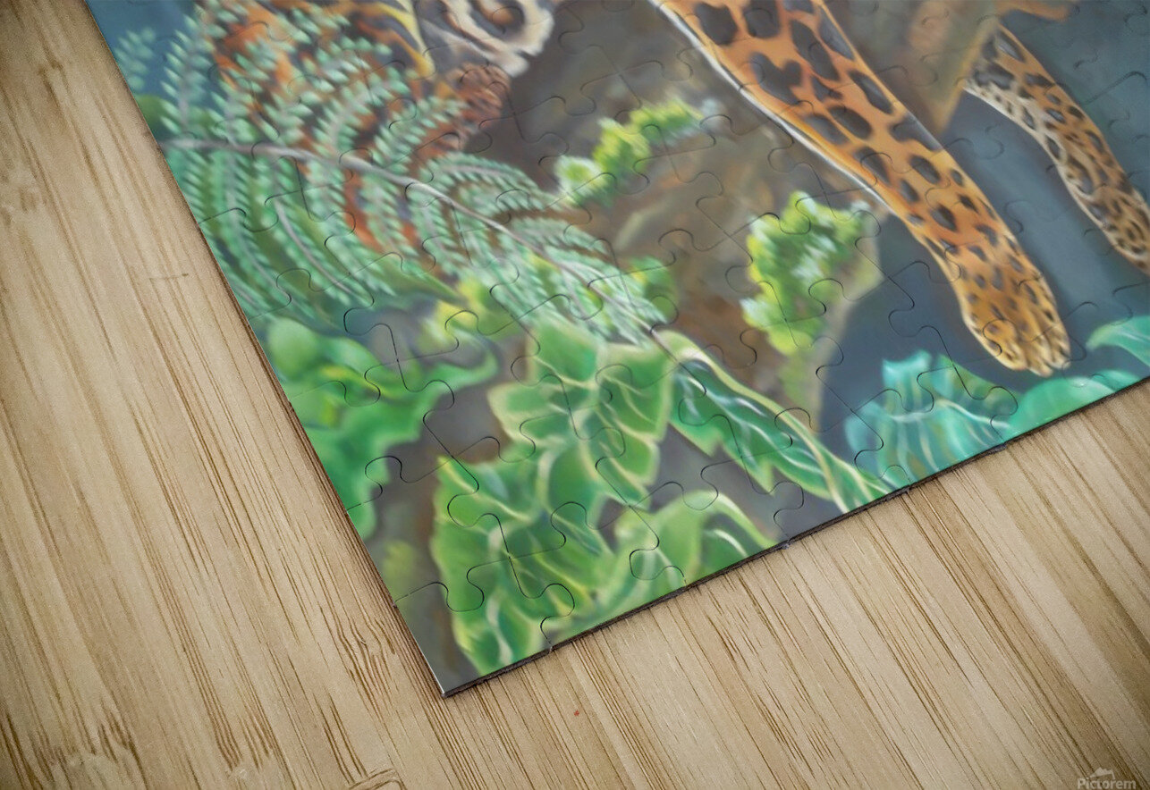 Gorgeous leopard resting in the jungle during the day HD Sublimation Metal print