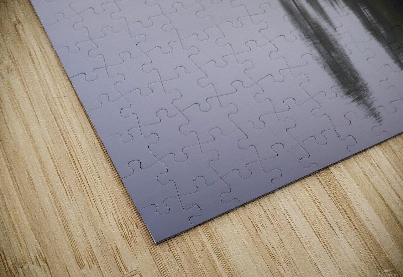 Koshlong Lake Fog HD Sublimation Metal print