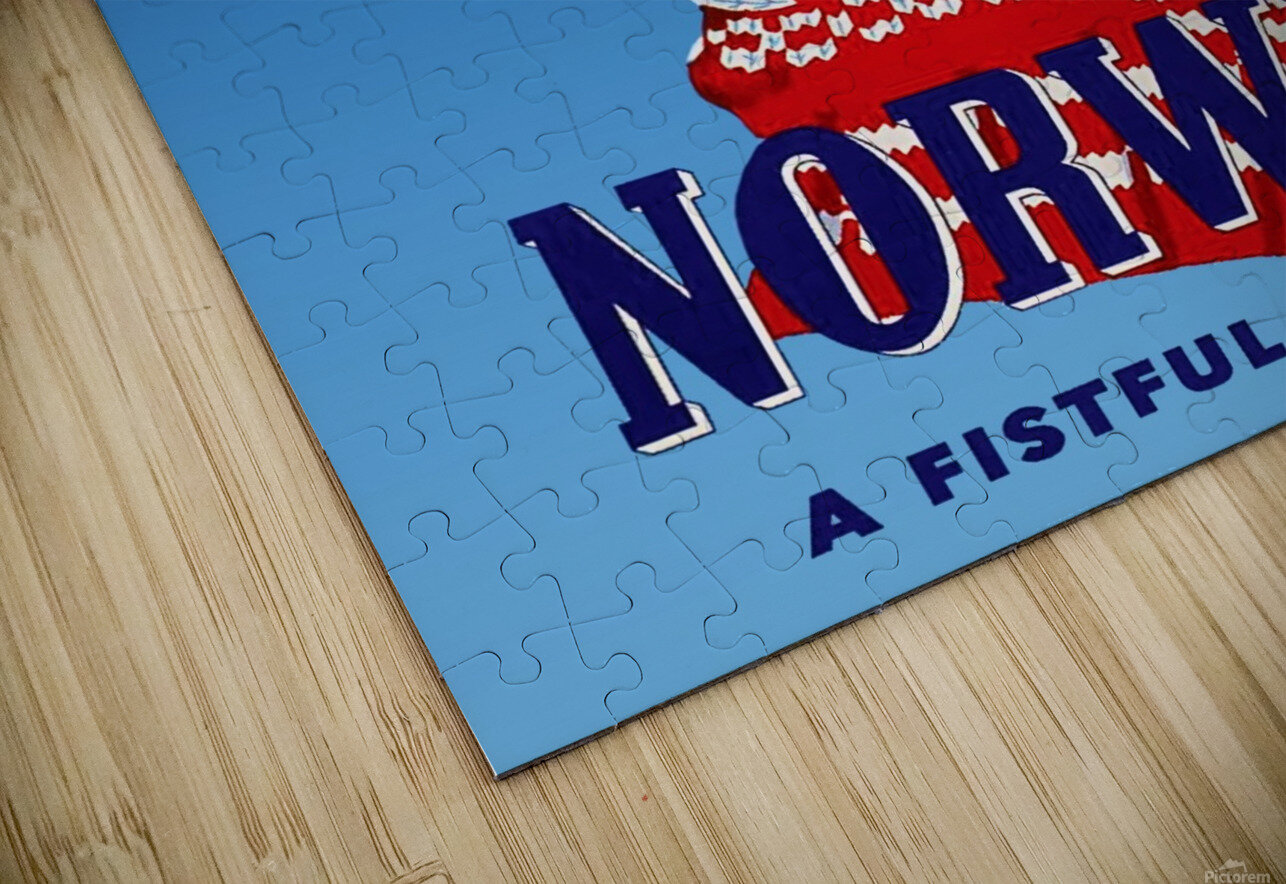 Norway Fistful of Fun HD Sublimation Metal print