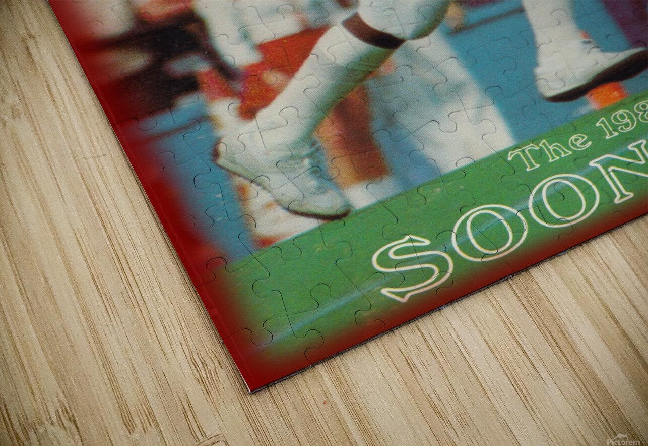 1982 oklahoma sooners retro college football poster HD Sublimation Metal print