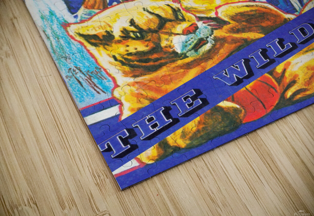 1980 kentucky wildcats basketball poster ted watts sports artist HD Sublimation Metal print