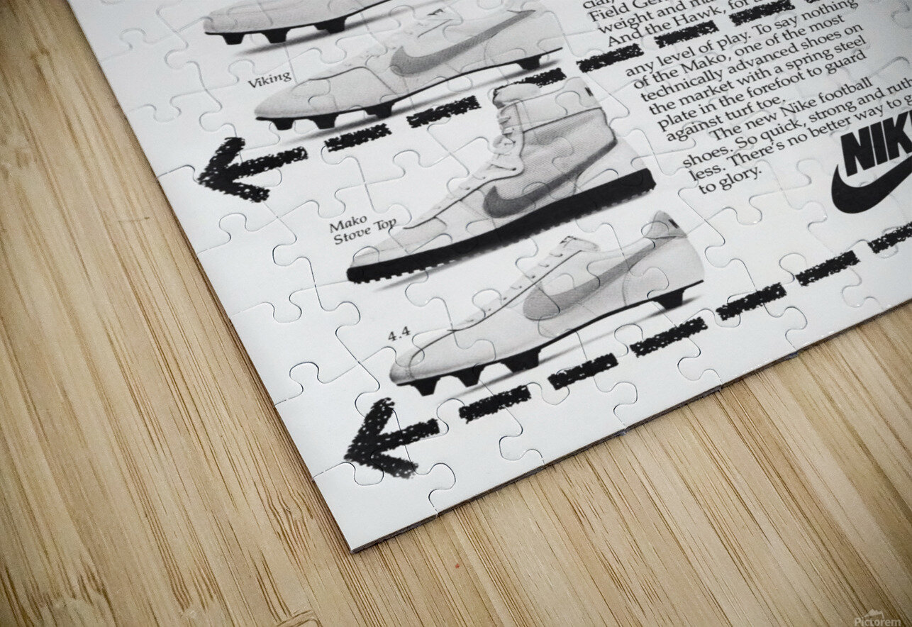 Hit Men Nike Shoes Ad Poster Reproduction 1982 HD Sublimation Metal print
