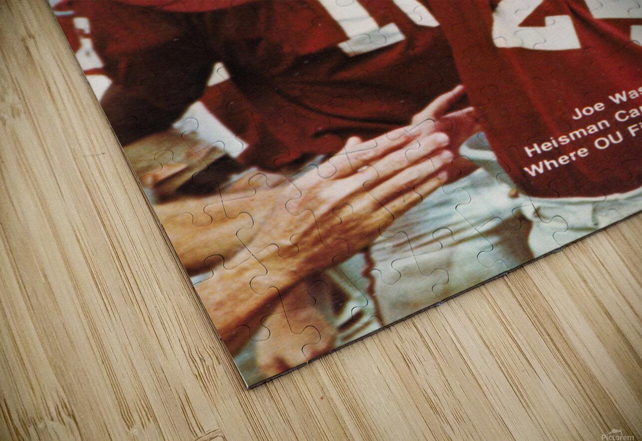 1974 oklahoma sooners football national champions poster sports wall art HD Sublimation Metal print