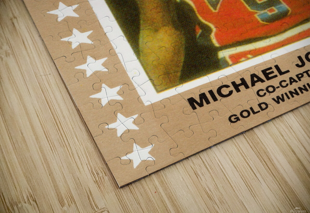 1984 USA Olympic Basketball Michael Jordan HD Sublimation Metal print