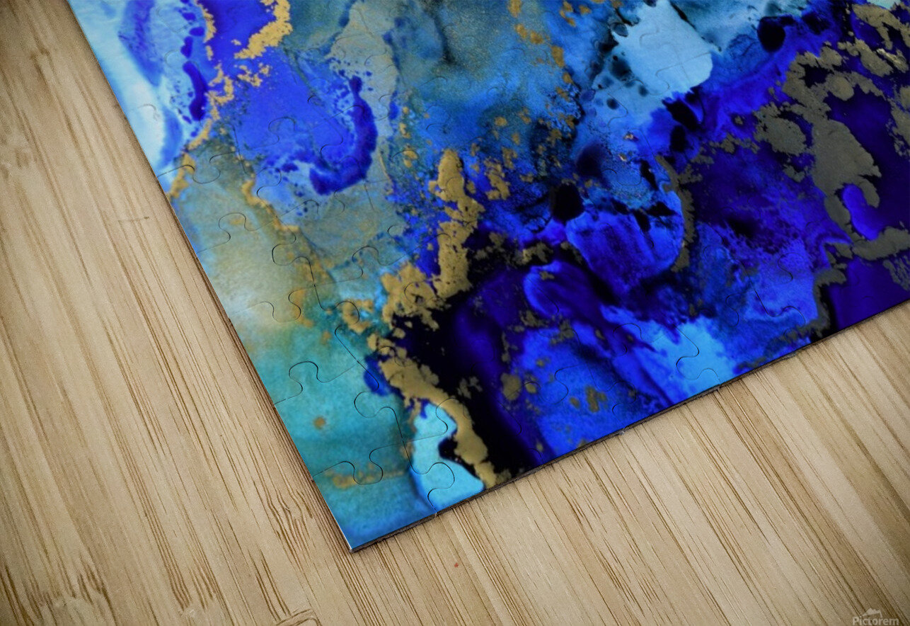 Starlight in Blue HD Sublimation Metal print