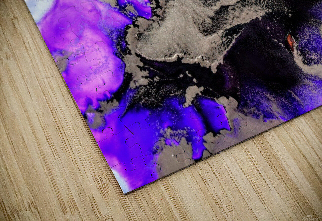 Purple Mirage II HD Sublimation Metal print