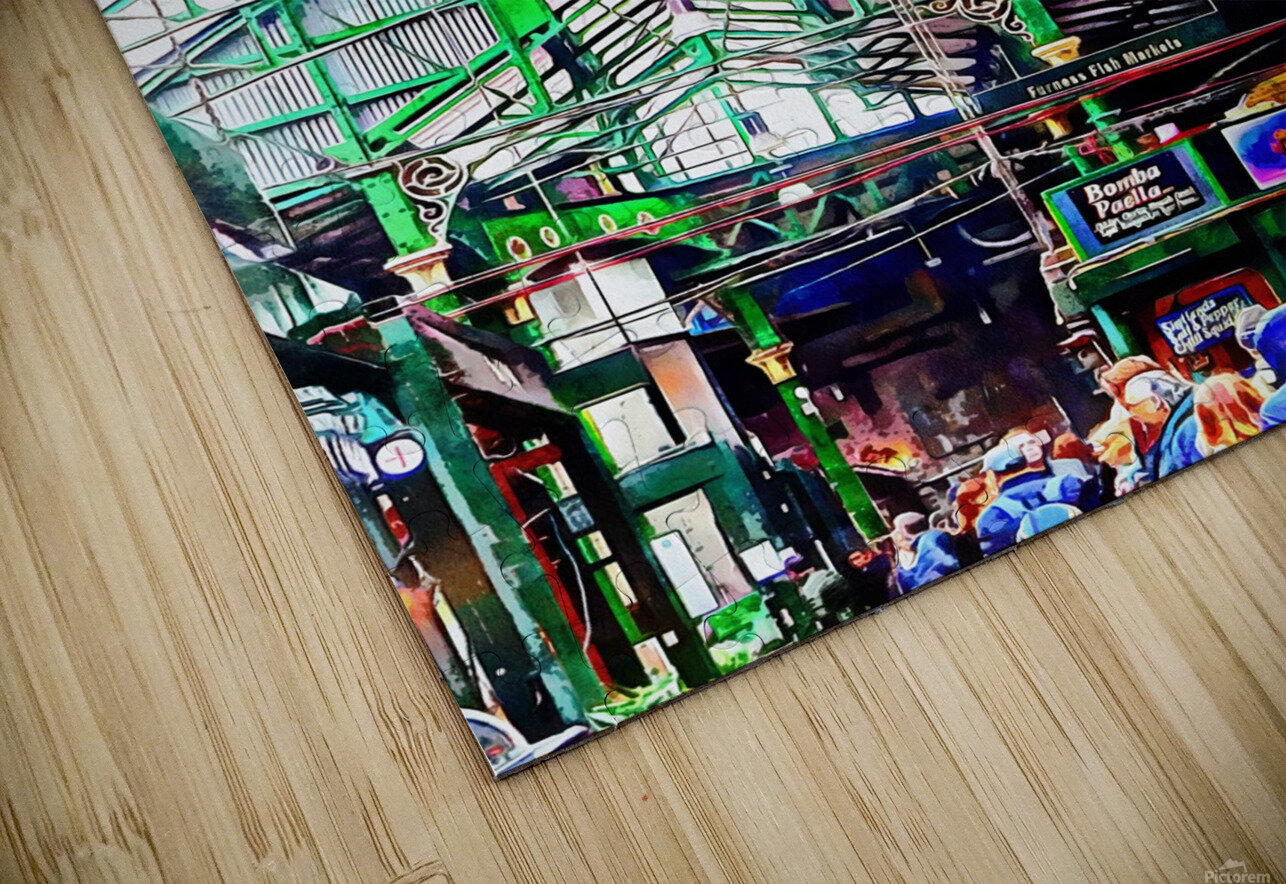 Roof Over Borough Market HD Sublimation Metal print