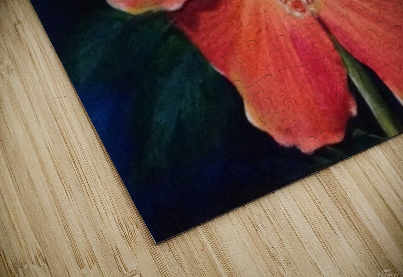Hibiscus HD Sublimation Metal print