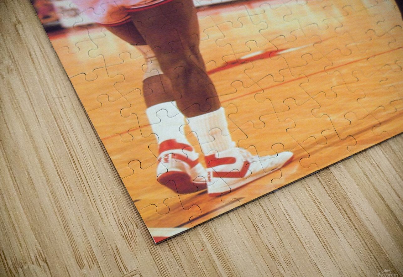 1985 Bulls High 5 Poster HD Sublimation Metal print