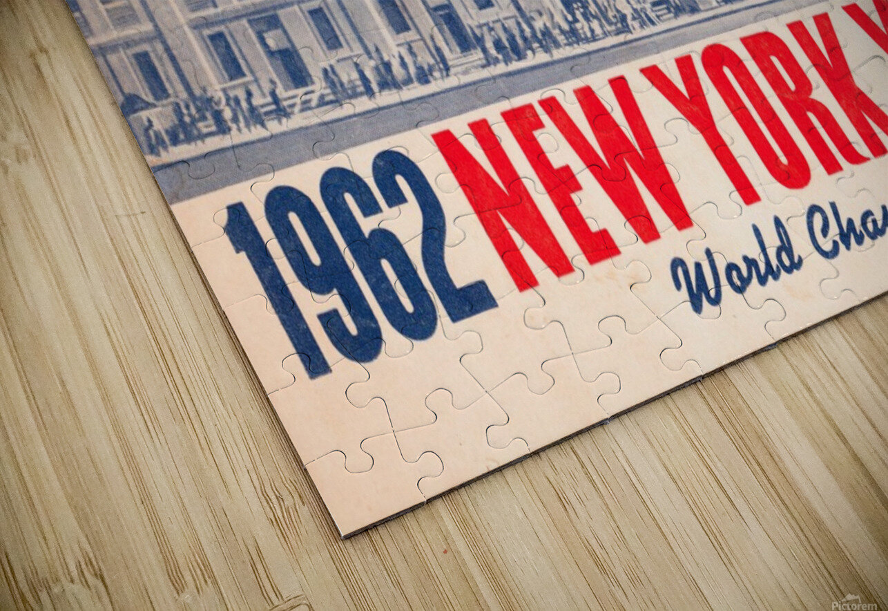 1962 new york yankees world champions HD Sublimation Metal print