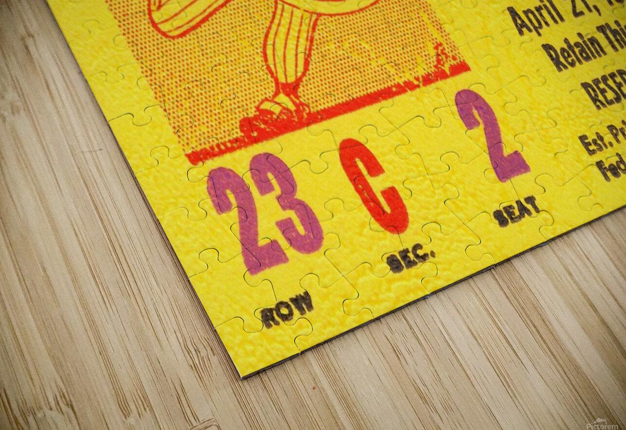 1955 aaa baseball denver bears opening game baseball ticket stub frame canvas HD Sublimation Metal print