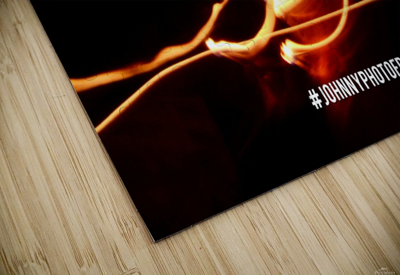 Fire leaf HD Sublimation Metal print