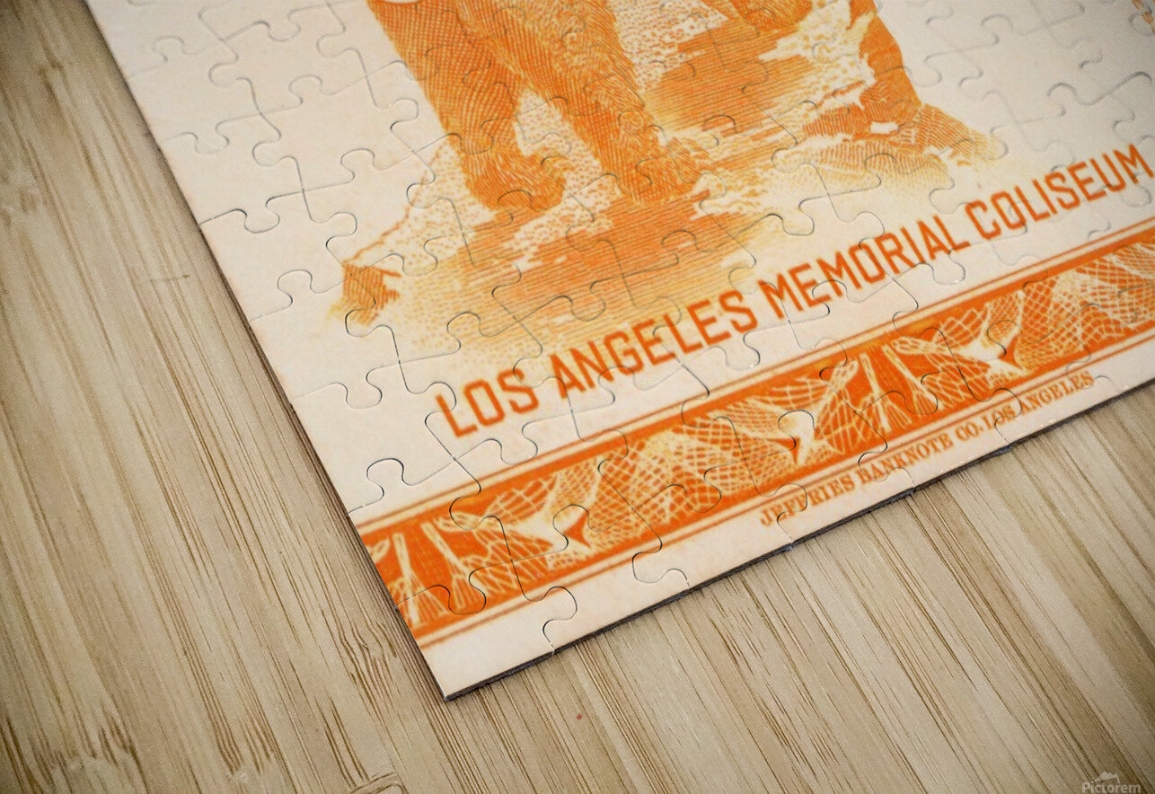 1938 cal bears usc trojans football ticket stub art la coliseum HD Sublimation Metal print