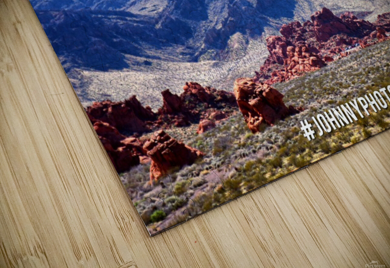 Canyon and mountain  HD Sublimation Metal print