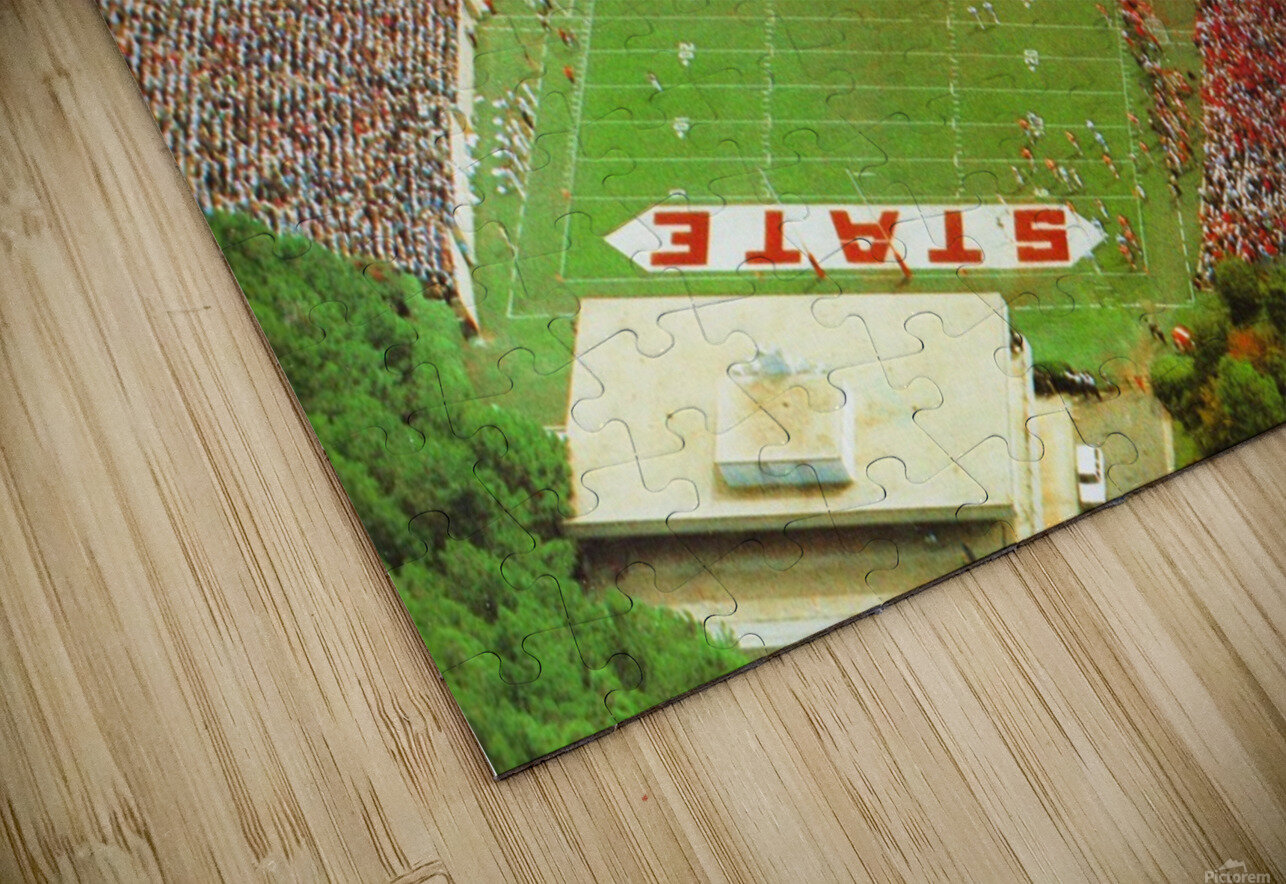 1985 nc state wolfpack carter finley stadium raleigh north carolina college football aerial photo HD Sublimation Metal print