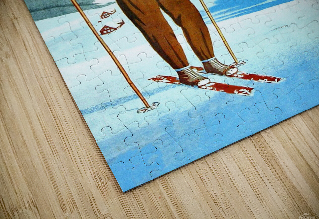 Ski in Courchevel HD Sublimation Metal print