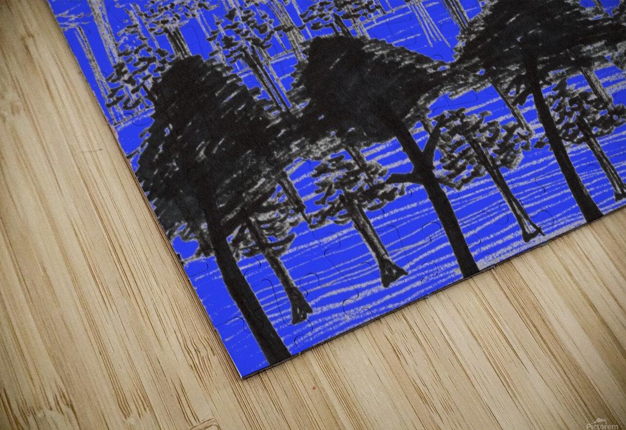 Trees vs sun blue HD Sublimation Metal print
